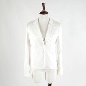 ANN TAYOR LOFT – White Cotton Jacket – Size 8